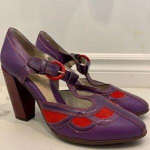 John Fluevog Blind Faith Mary Jane Heels Size 9.5